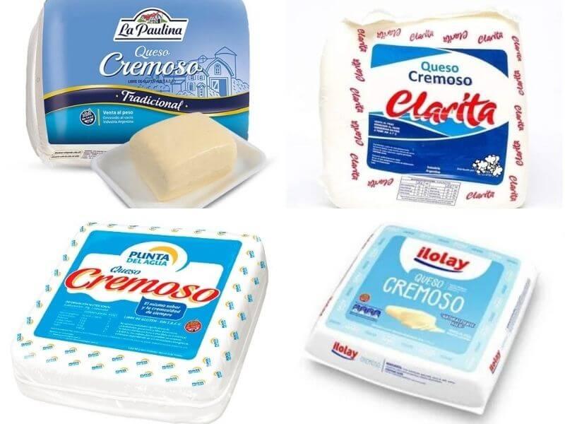 Marcas argentinas de queso cremoso para usar en reemplazo de la mozzarella